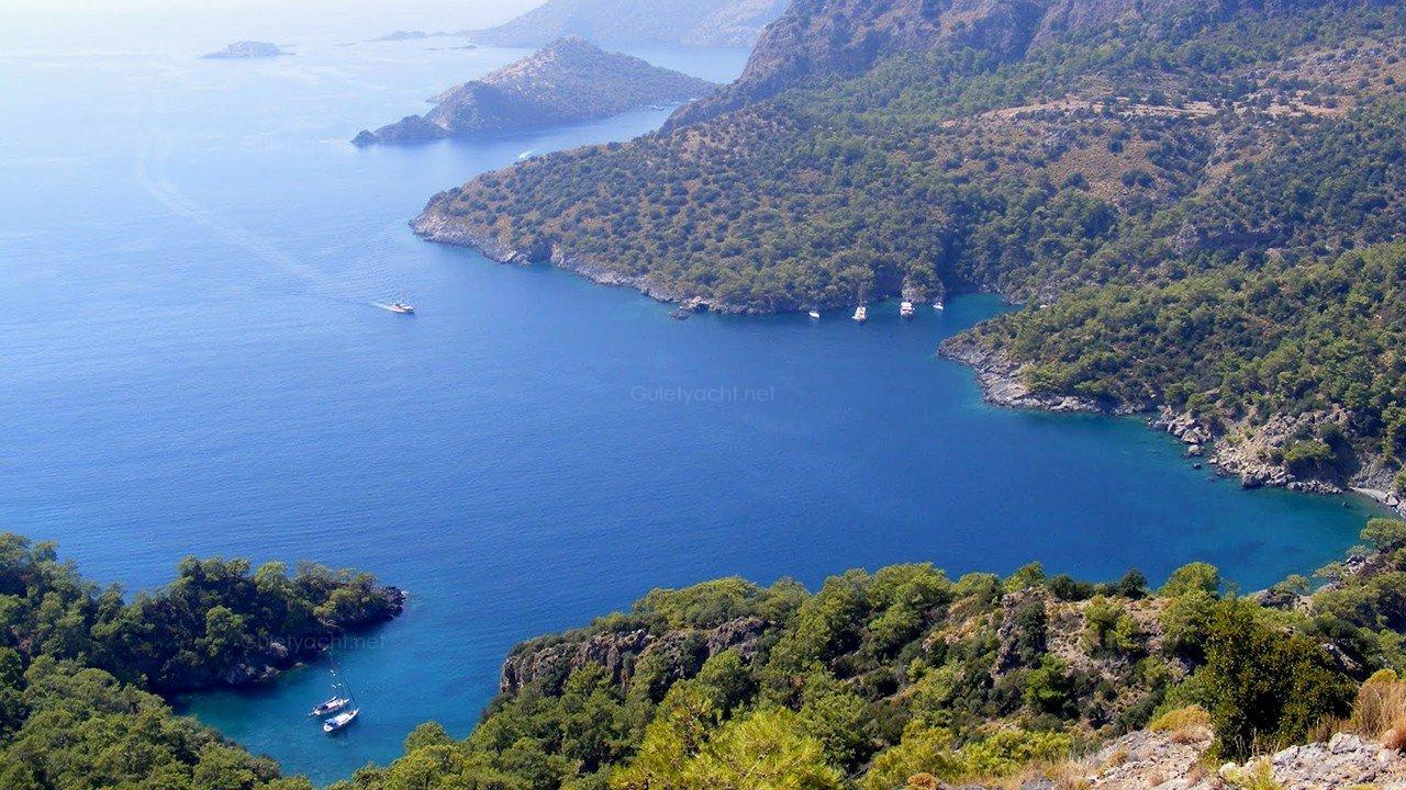 Fethiye to Olympos Gulet Charter Route - 7 Nights Gulet Cruise Itinerary