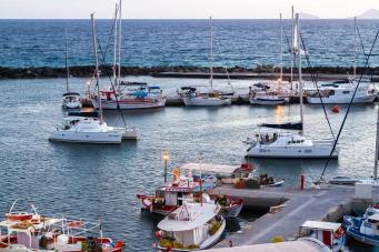 Boats In Vlychada Marina Santorini