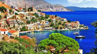 Symi Island and Hisaronu Gulf